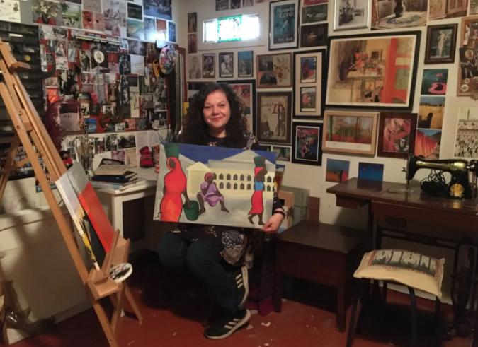 Me in my art studio